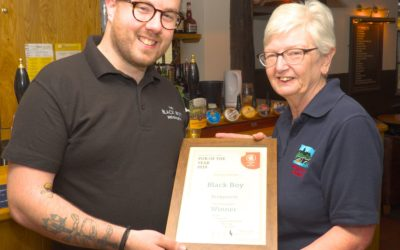Black Boy, Bridgnorth awarded Pub of the Year 2019